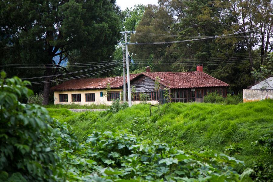 """""""La cabaña"""" en San Cristóbal de las Casas donde Castellanos vivía y trabajaba con los colegas del Instituto Nacional Indigenista durante los años 1955-1957."""
