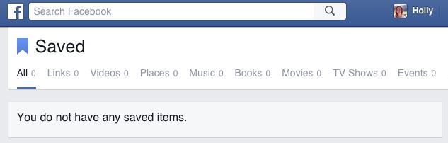 Facebook Saved Links - GONE!