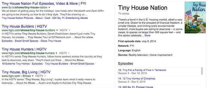 There's ~ 5 shows on network TV about tiny houses. Not shown is DIY Network's version. It isn't hard to see how this myth about Minimalism came about.