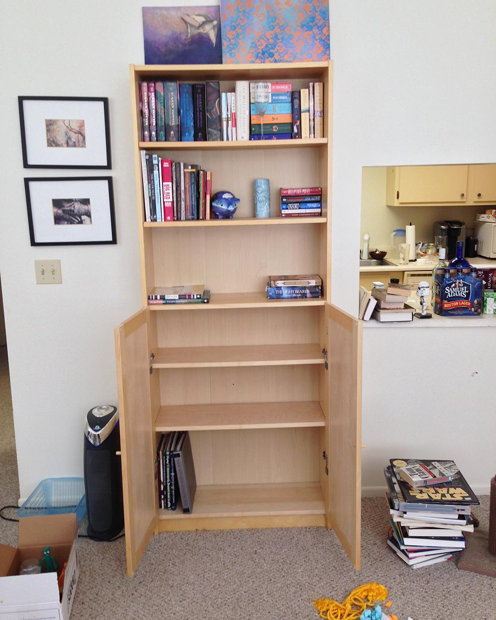 The first great book purge bookshelf