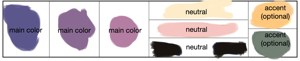 Finally found a color palette that looked nice on me. Unfortunately, it didn't inspire me.