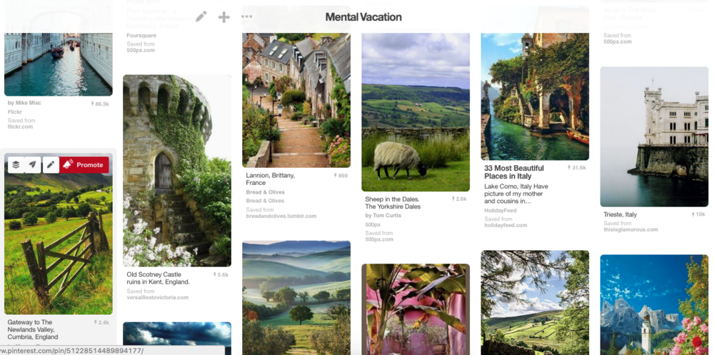 Some of the most beautiful places in the world show up in the Mental Vacation Pinterest board!