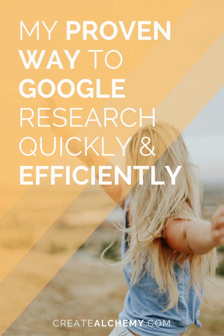 Proven way to Google research new things quickly efficiently