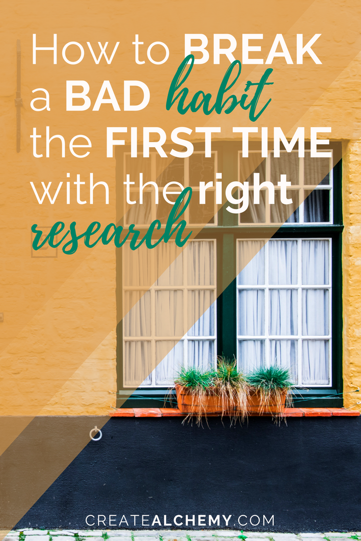 Do you want to REALLY break a bad habit? To do it right, you gotta research right THE FIRST TIME. Click through to read my tried and true method for doing just that!