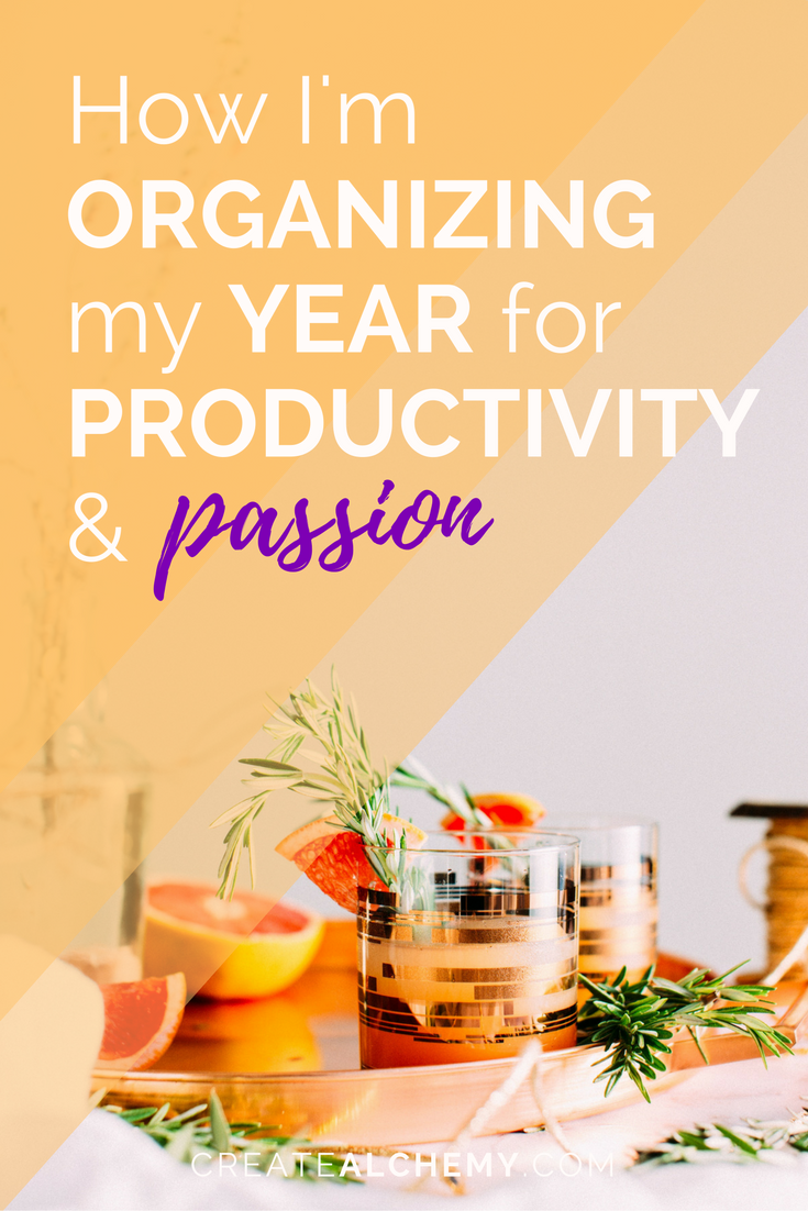 Want to make 2017 your best year yet? Here's how I'm organizing my year for passionate (and pragmatic!) productivity.