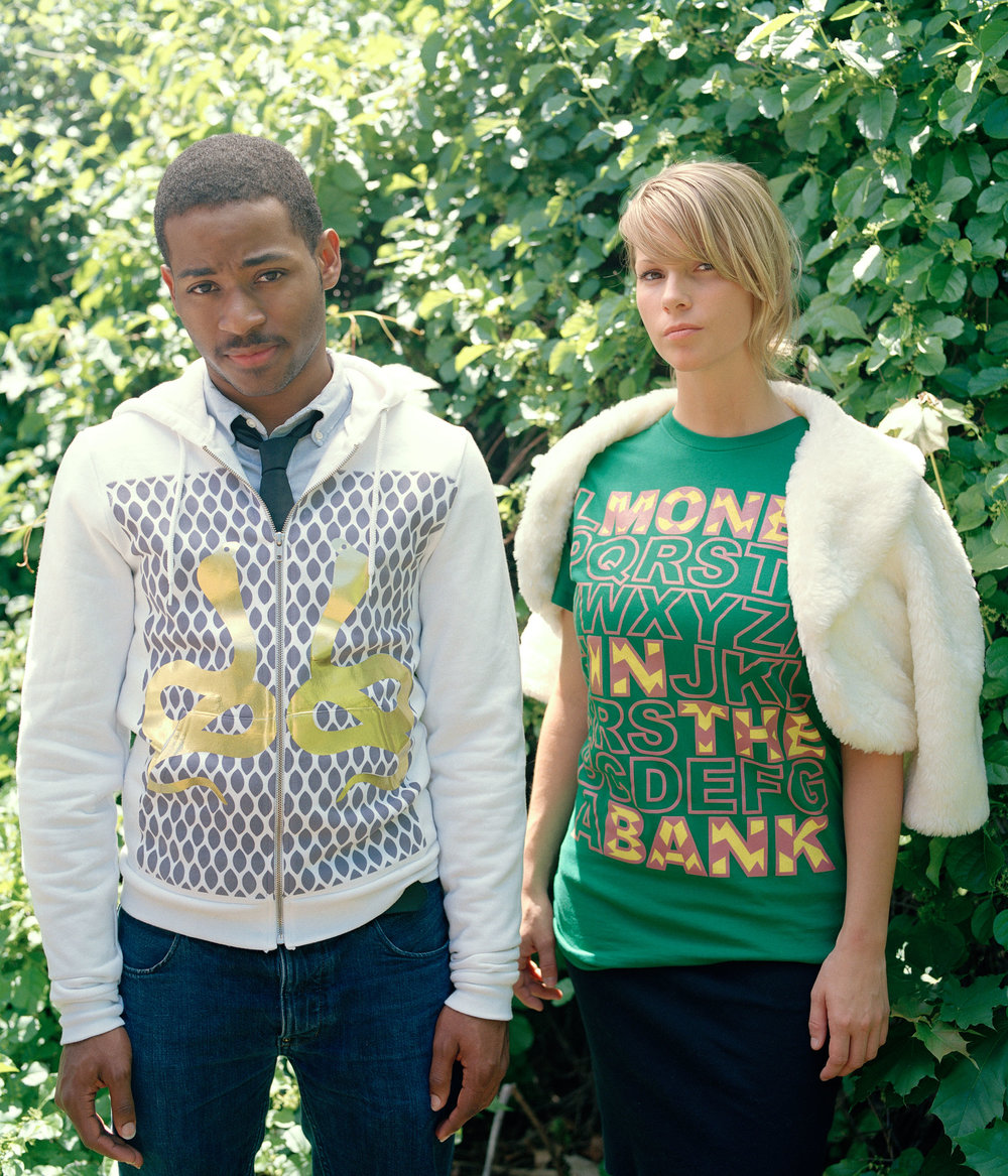 Bank Clothing, 2007.  Sophia and her co-founder Nani Stoick built a clothing company from their dorm room at the age of 19. Their brand was an expression of the vibrant personality and pop culture of teenagers in the early 2000s.   Photo in collaboration with Brandon Pavan and Nani Stoick.