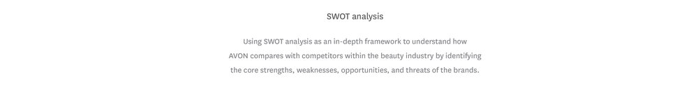 avon strengths and weaknesses