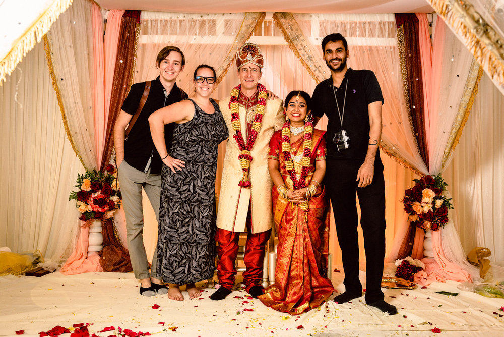 The team and I with Sindu & Geoff at their wedding in ICC Hall