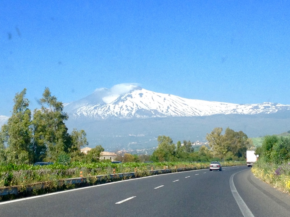Mt. Etna in Sicily...like so many volcanoes and Italians, it hasn't stopped smoking!
