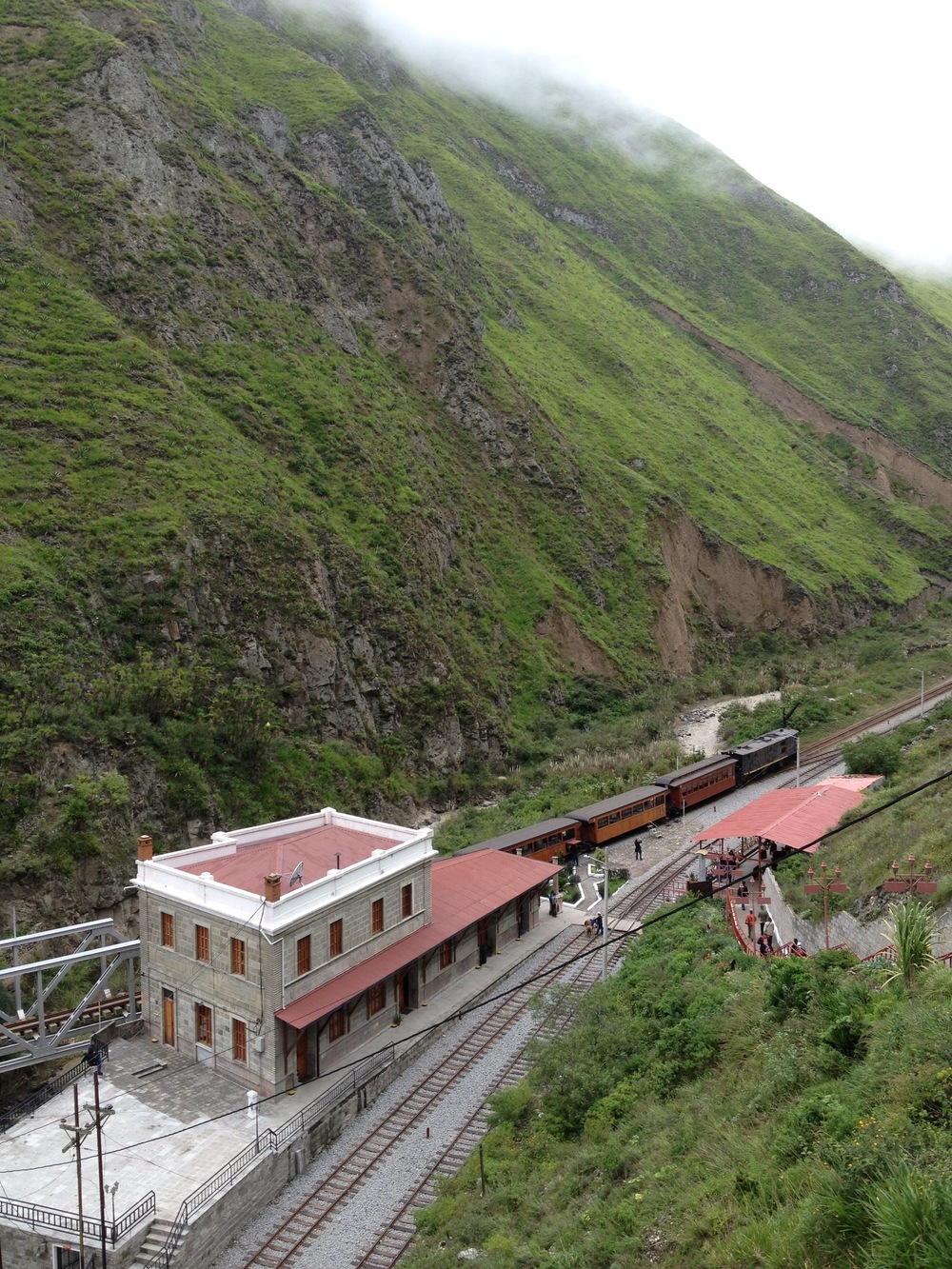 The Devil's Nose Train ride through the Andes