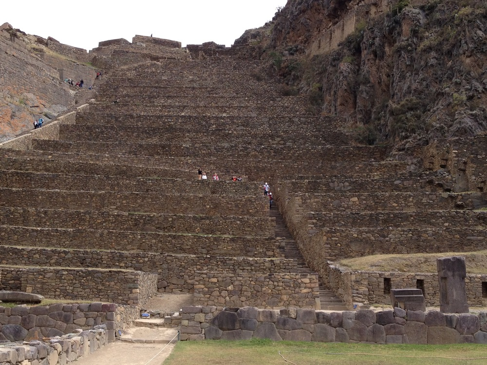 Our first major workout was climbing these steps in Urubamba.