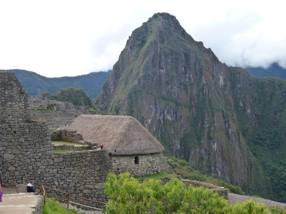 The first sight of Machu Picchu from the Inca trail.