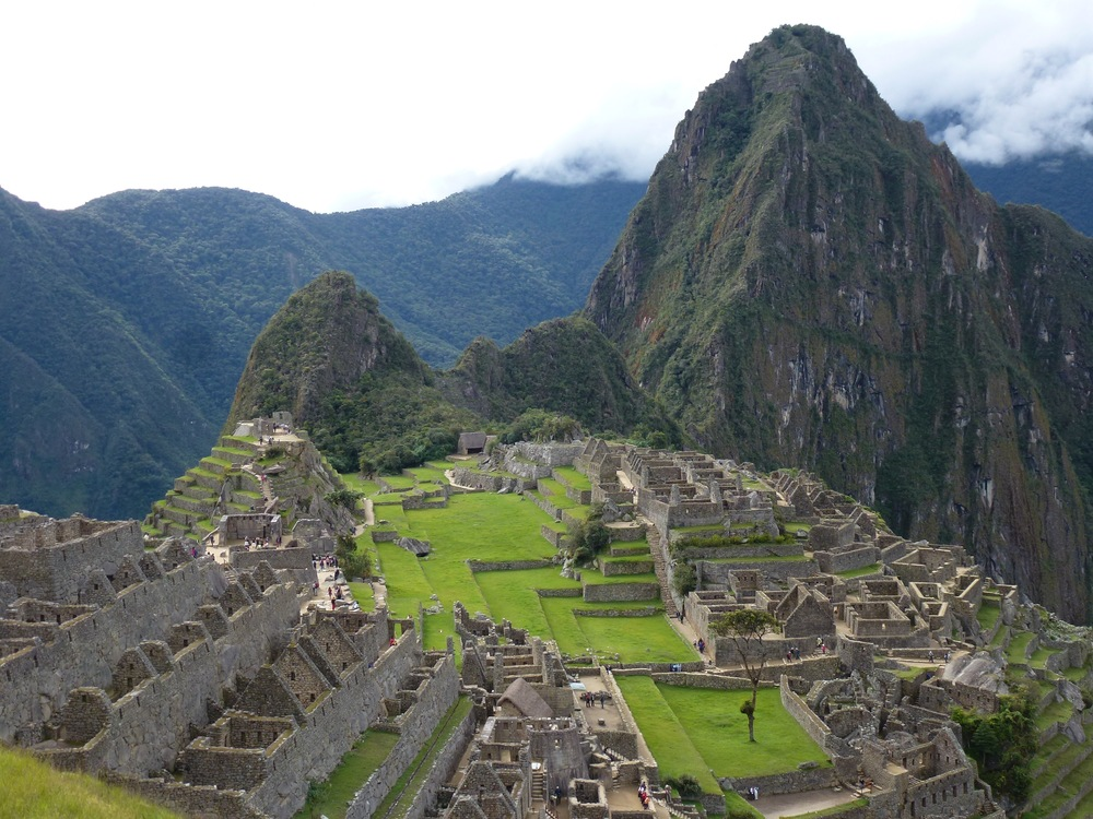 Downtown Machu Picchu. If left for 10 years, the entire site would be completely overgrown with the thick tropical cloud forest that surrounds it.
