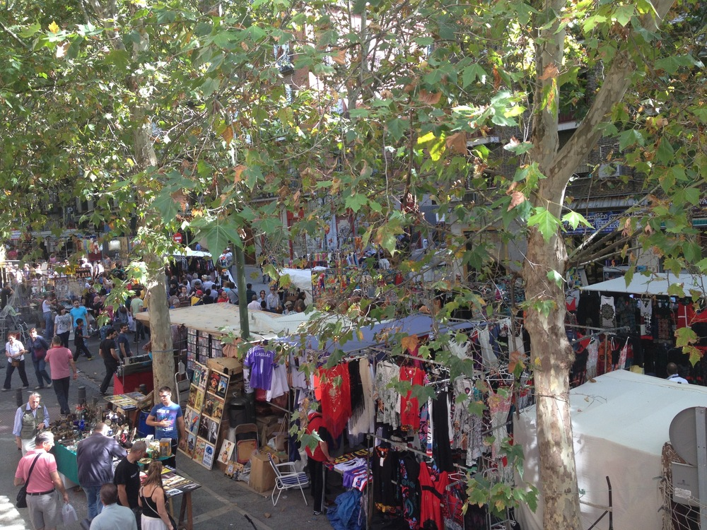 Madrid street market .