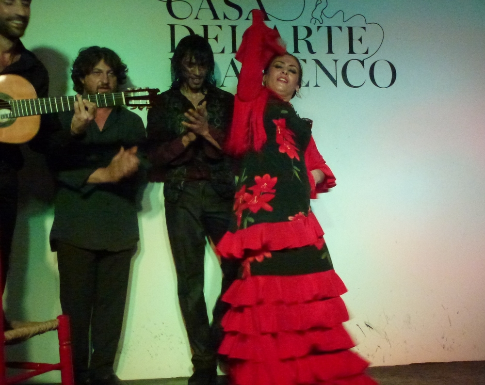 We were able to get tickets to a gypsy flamenco performance, which turned out to be much more dramatic and exciting than we had expected and almost as consuming as the architecture we have been seeing.