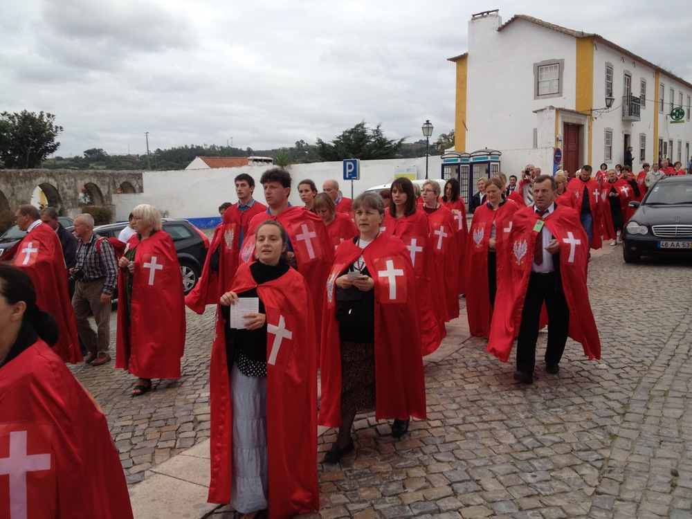 Intersecting with a pilgrimage in the walled town of Obidos