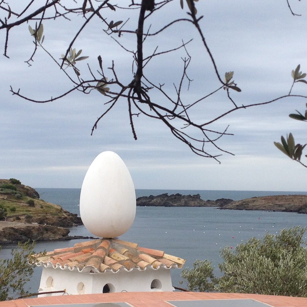 A rooftop on Salvador Dali's private home in Portlligat, near Figueres