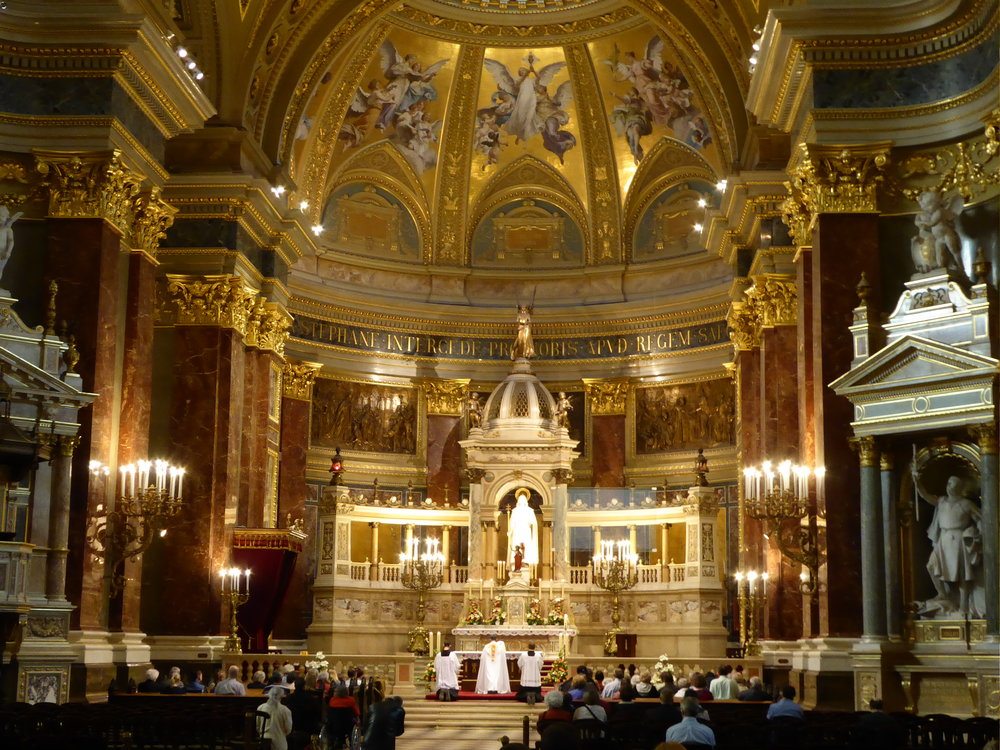 Budapest has its own St. Stephens, a bit more opulent than the one in Vienna.