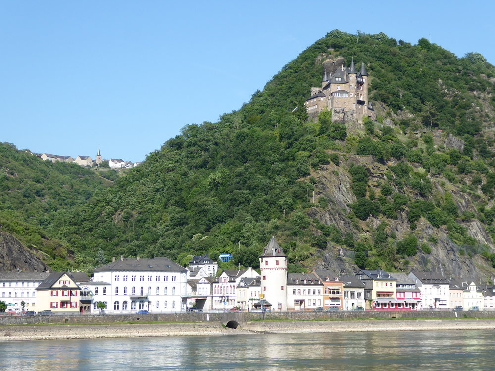 Floating down the Rhine, we spend the day passing picturesque castles and towns.