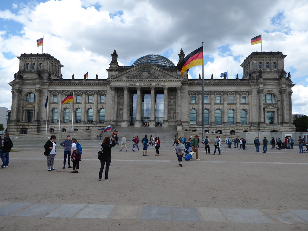 The Berlin Reichstag.