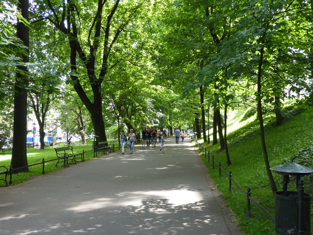 A park runs through much of Krakow and also rings the old town giving it a much more peaceful feeling than other cities we visited.