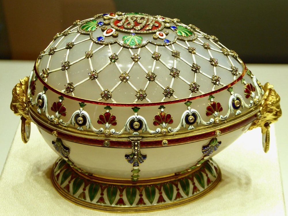 Eggs, eggs, glorious eggs at the Faberge Museum.