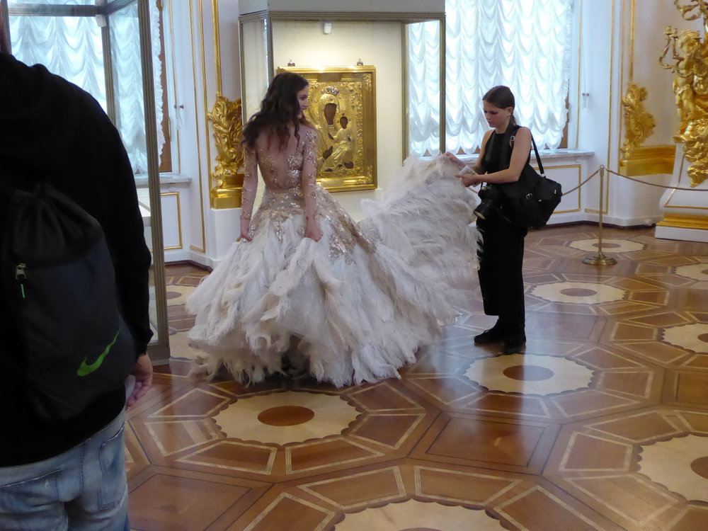 So many venues for fashion shoots in Saint Petersburg.
