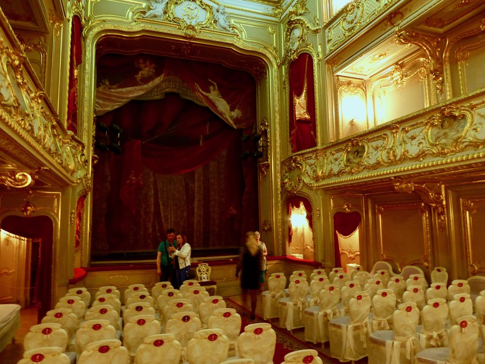 """The home entertainment system at the Yusupov Palace...they had their own theatre in their """"house""""."""