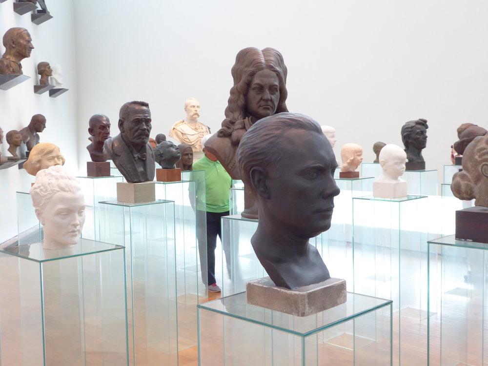 A room full of heads at the Kumu art museum in Tallinn, Estonia.