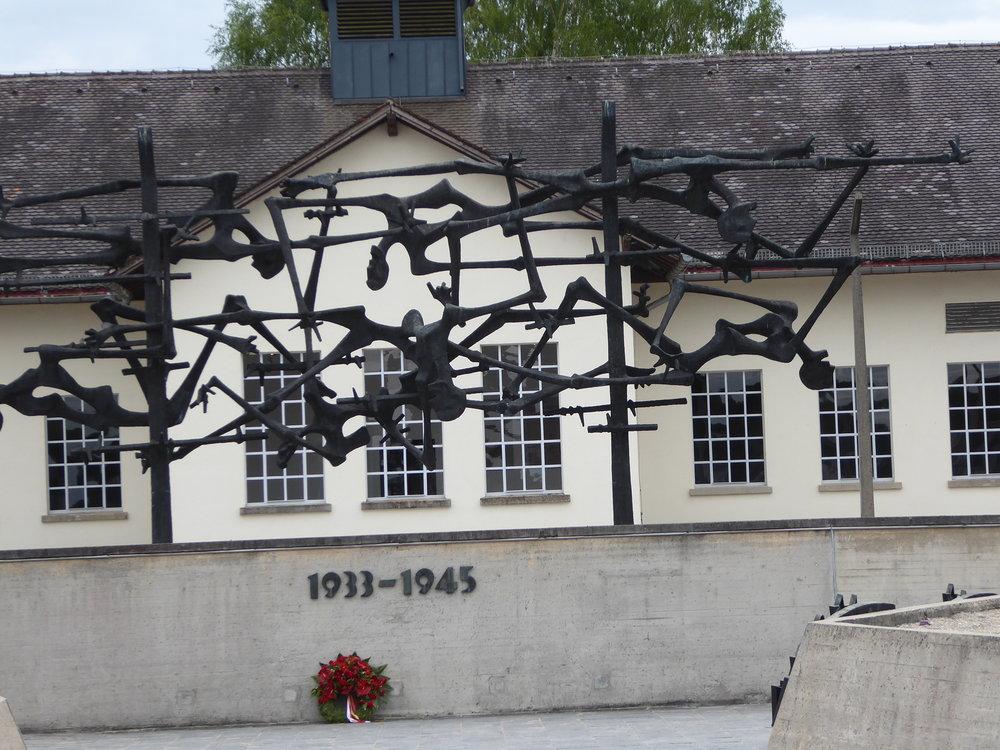 Sculpture at Dachau.