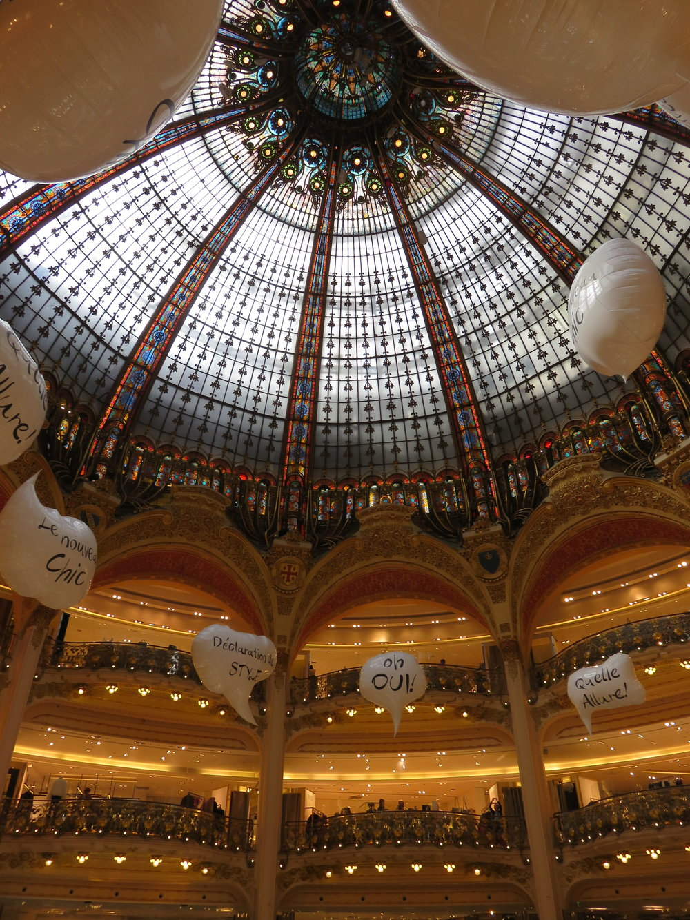 Galleries Lafayette. Paris is credited with being the birthplace of the department store. You know you're not a Macys when you shop here.