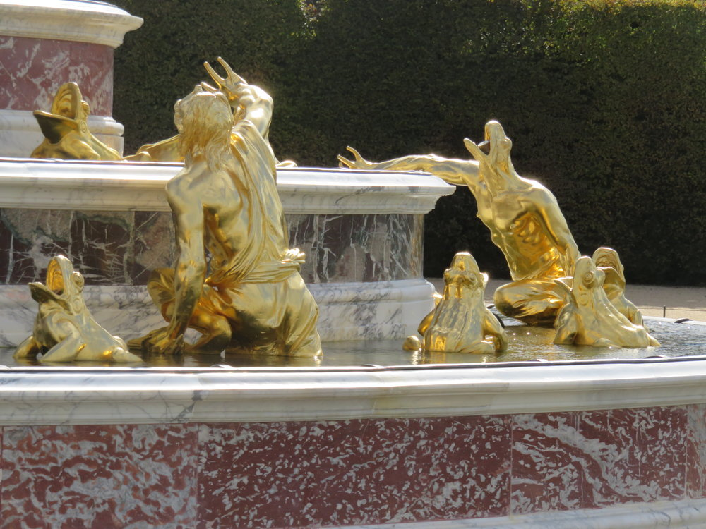 The citizenry of Lycia get turned into frogs and lizards because Apollo's mom didn't like their sass. A fountain at Versailles.