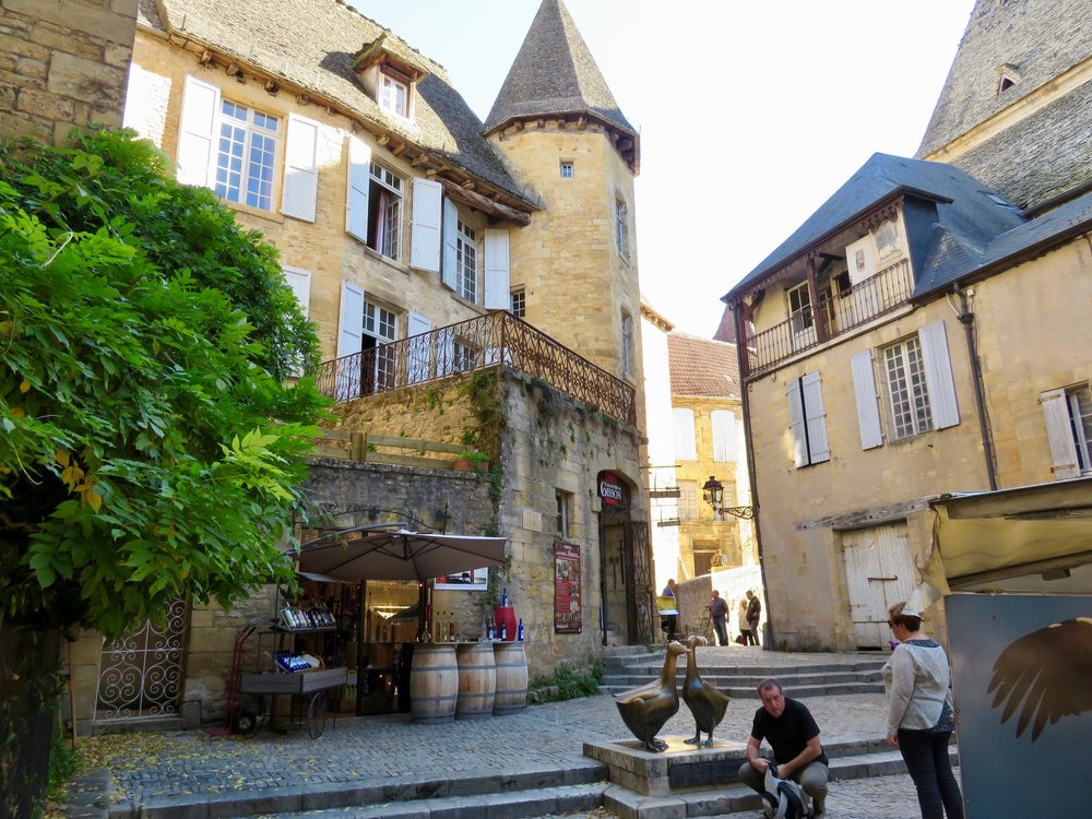 The pate industry is huge in the area around the Dordogne. Sarlat-la-Caneda (above) seemed to be focused on the sale of all varieties of the delicacy.