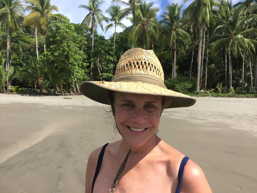 Ellen on Cano Island.