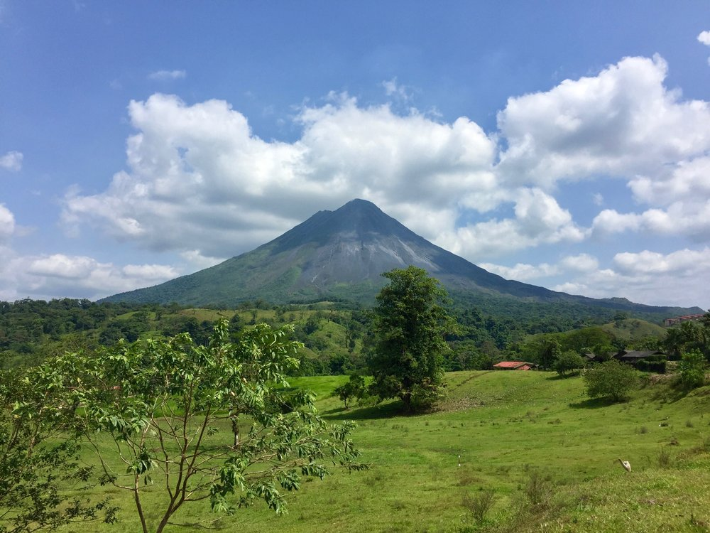 A country rich in volcanic activity, here is the iconic shot of Arenal volcano.