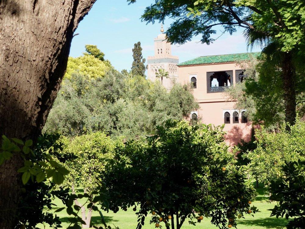 The gardens at La Mamounia.