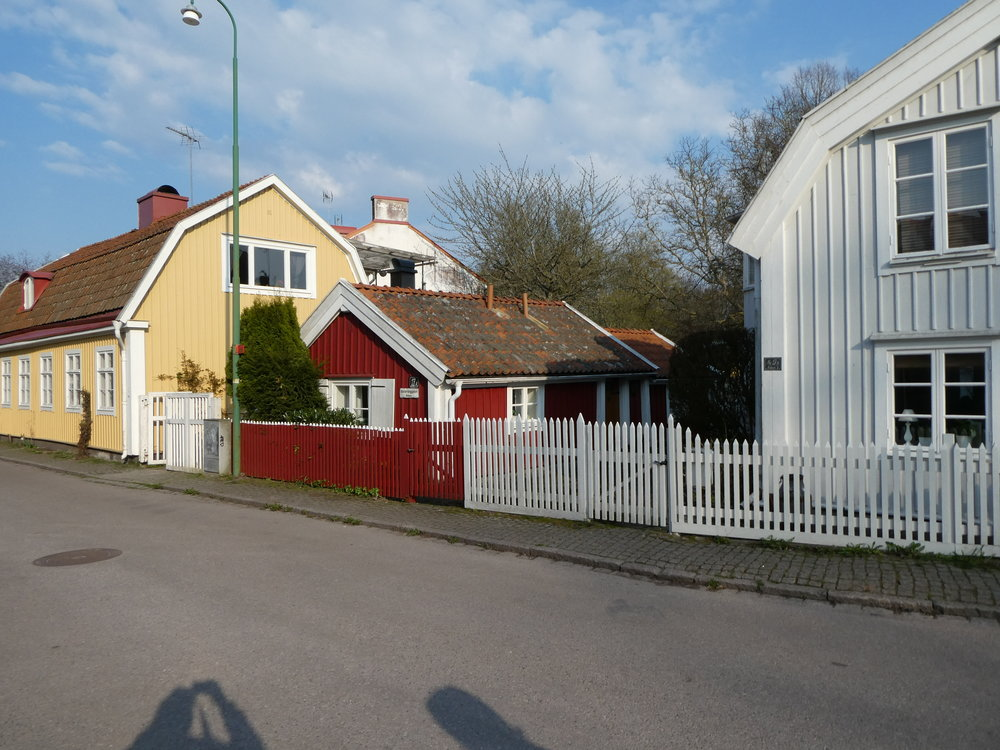 Our little red cottage in Kalmar.