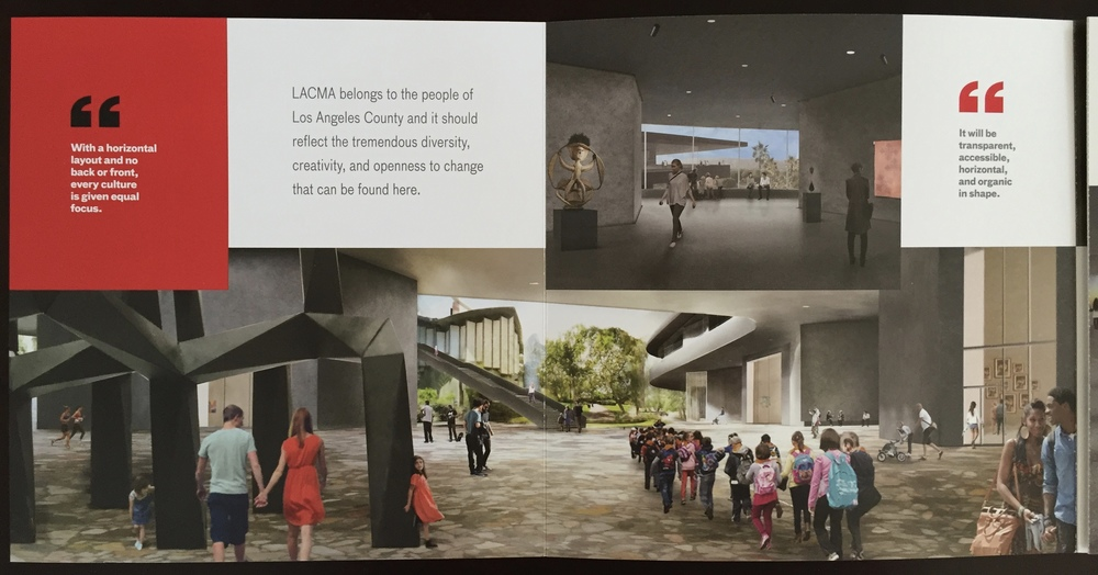 Promotional brochure for Peter Zumthor's LACMA redesign