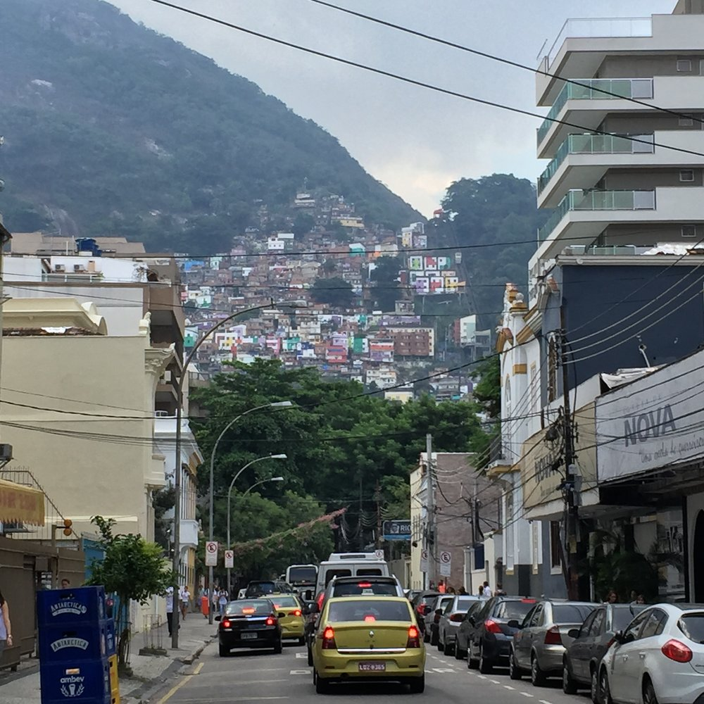 A view toward one of Rio's many favelas