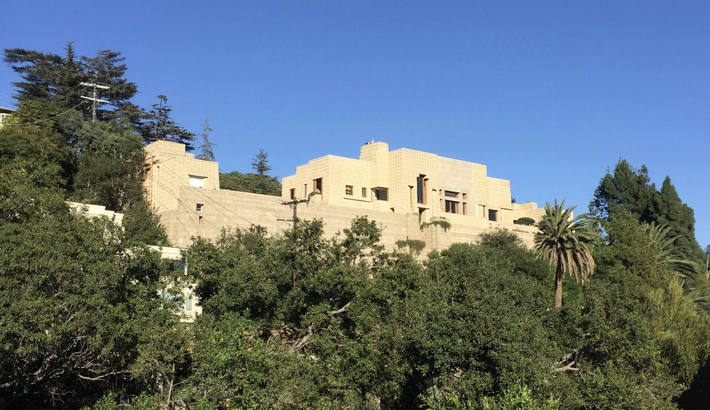 The Ennis House, one of Wright's textile block houses in Los Angeles.