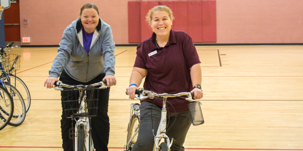 Staff at Freedom Valley YMCA on Zagster Bikes