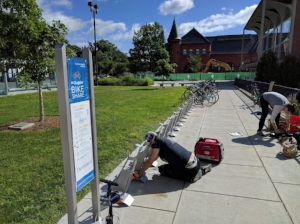 Station installation at Dartmouth College