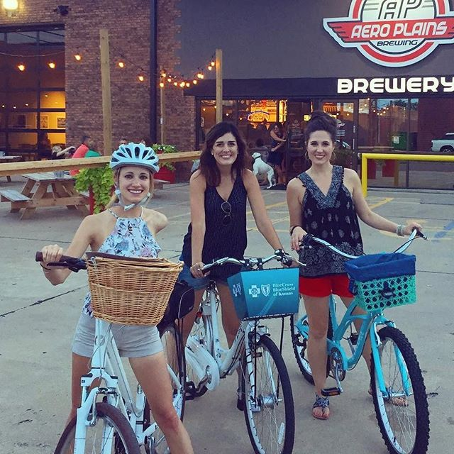 Tfw you're the only one of your friends without a bike -- we've got you covered. 📷: @hillarymartin22 ・・・ We had our own Brewery bike tour in ICT! #BBTict #ilovewichita #bikeict #bikeshareict