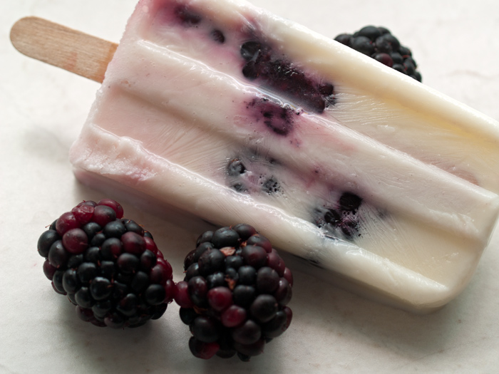 Yogurt and Blackberries make a wonderful summer snack!