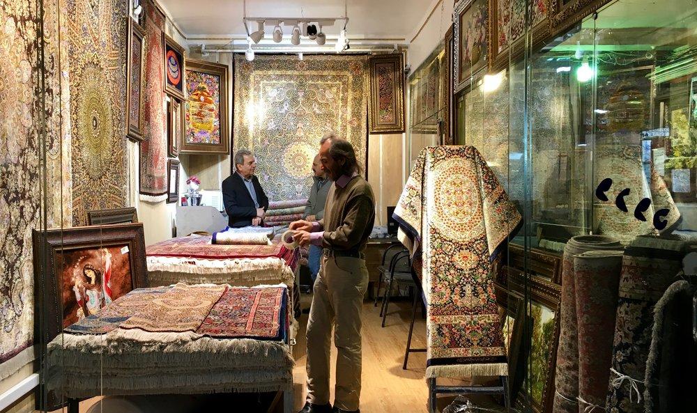 Persian Rug store in Tehran Bazaar.jpg