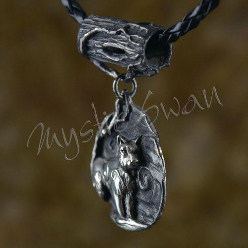 Spirit lynx fantasy pendant with tube bail in sterling silver spirit lynx fantasy pendant with tube bail in sterling silver aloadofball Images
