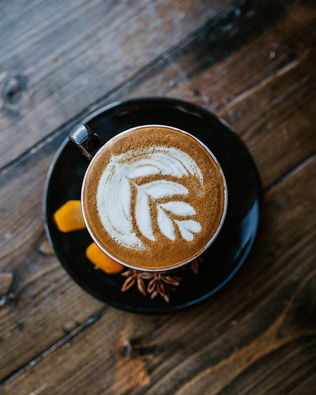 This (orange star) latte though. A perfect blend of spice and citrus. . . . #foolishcoffee #coffee #coffeeshop #tulsacoffee #downtown #downtowntulsa #shoplocal