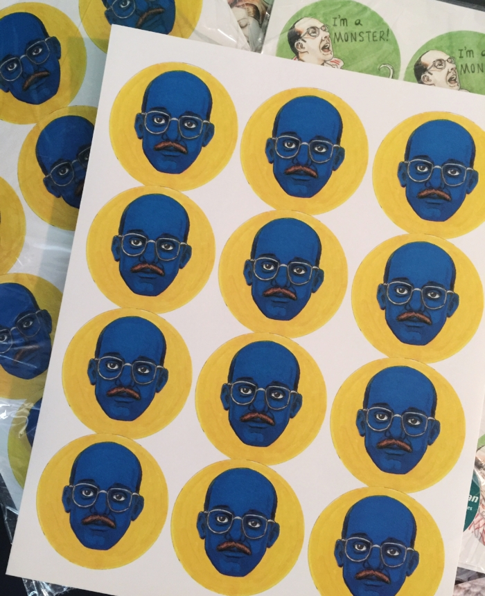 Blue Man Stickers Cimpoe Gallery