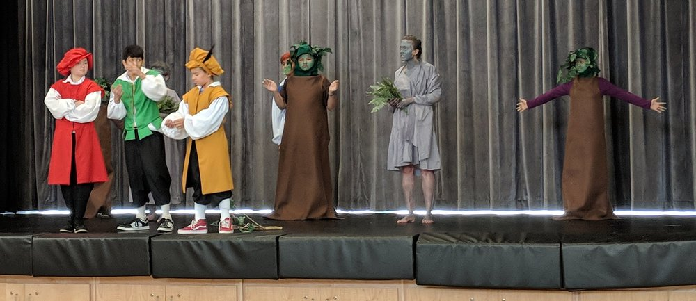 Incredible performance of a Shakespeare play by USDB students.