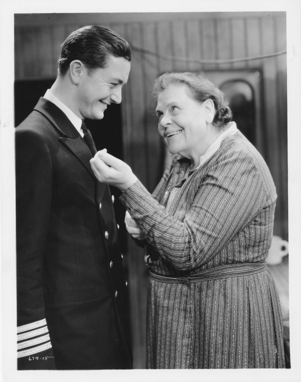 Marie Dressler and Robert Young in  Tugboat Anni e  Photographic Reproduction  1932 Marie Dressler Foundation Collection
